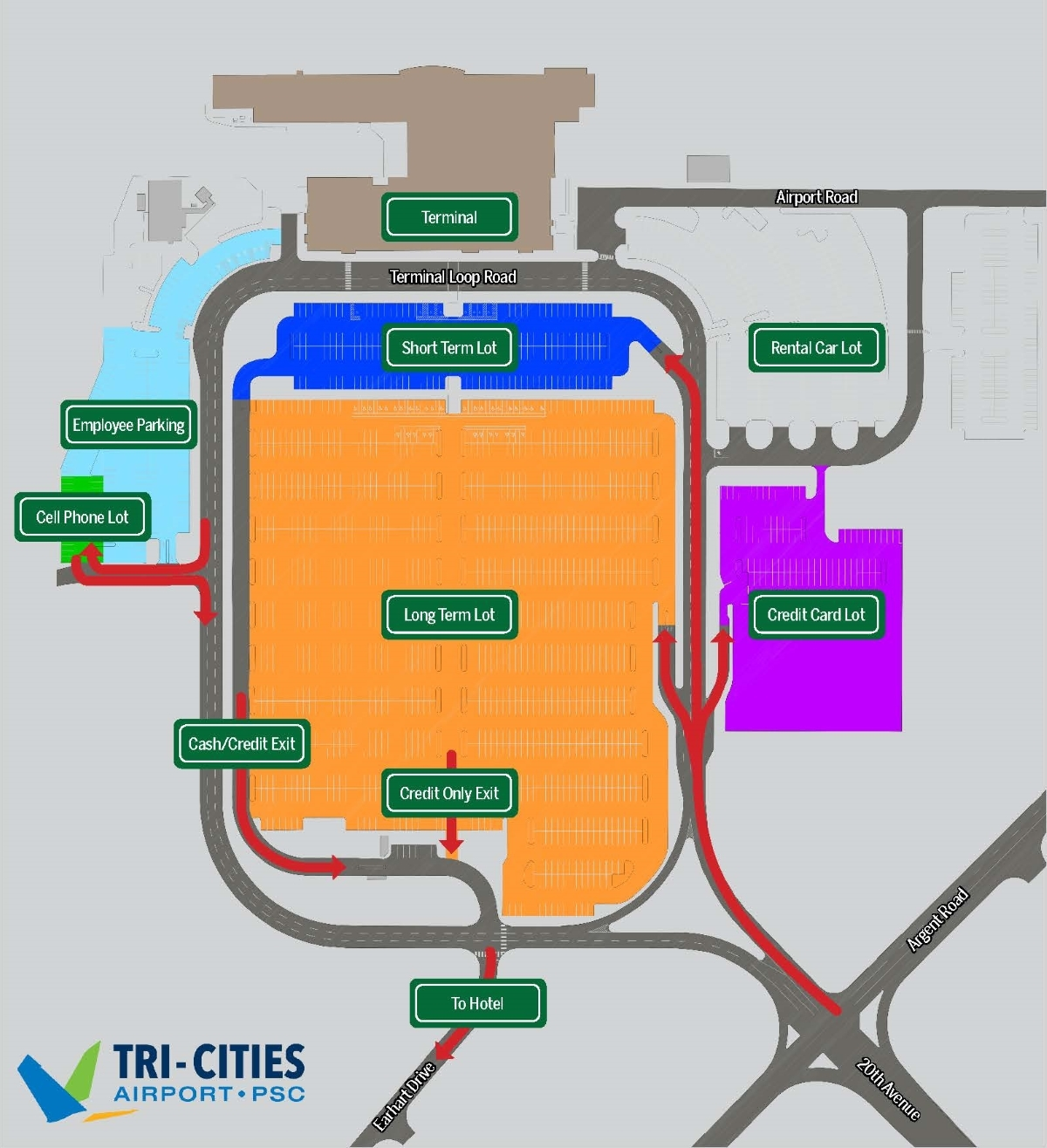 TCA Parking Map